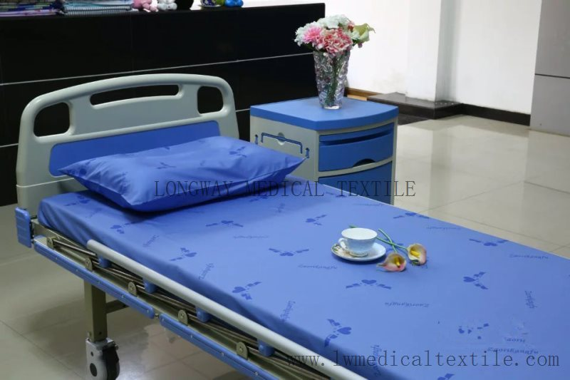 Hospital Logo Can Be Printed Onto Bed Sheet, Duvet Cover And Pillow Case.